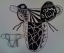 Zentangle® Inspired String Figure Umeke ai o Hina or poi calabash of Hina